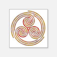 "Triple Spiral - 6 Square Sticker 3"" x 3"""