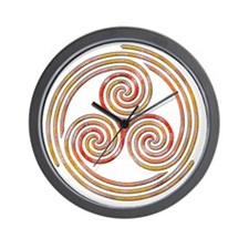 Triple Spiral - 6 Wall Clock