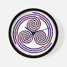 Triple Spiral - 11 Wall Clock