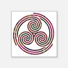"Triple Spiral - 9 Square Sticker 3"" x 3"""
