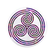 "Triple Spiral - 11 3.5"" Button"