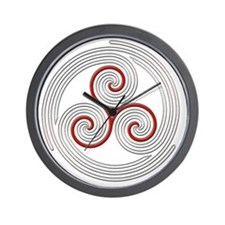 Triple Spiral - 8 Wall Clock