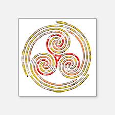 "Triple Spiral - 5 Square Sticker 3"" x 3"""