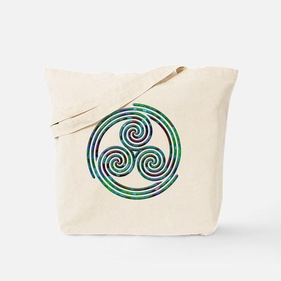 Triple Spiral - 7 Tote Bag