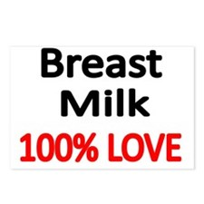 BREAST MILK 100% LOVE Postcards (Package of 8)