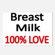 BREAST MILK 100% LOVE Postcards (Package of 8)