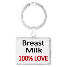 BREAST MILK 100% LOVE Landscape Keychain