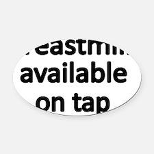 breastmilk Oval Car Magnet