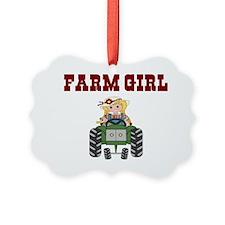 FARM GIRL Picture Ornament