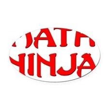 Math Ninja Oval Car Magnet