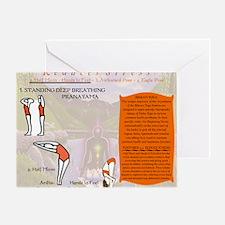 Yoga Pranayama Greeting Card