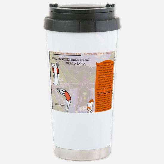 Yoga Pranayama Stainless Steel Travel Mug