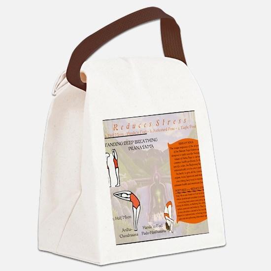 Yoga Pranayama Canvas Lunch Bag