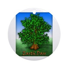 Earth Day Tree Ornament (Round)