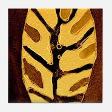 Leaf 5 by crowcat Tile Coaster