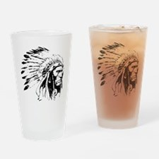Native American Chieftain Drinking Glass