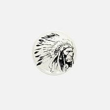 Native American Chieftain Mini Button