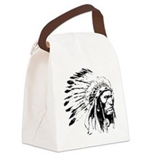 Native American Chieftain Canvas Lunch Bag