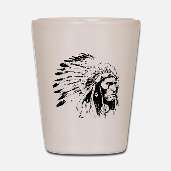Native American Chieftain Shot Glass