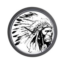 Native American Chieftain Wall Clock