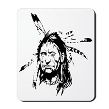 Native Warrior Four Feathers Mousepad