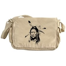 Native Warrior Four Feathers Messenger Bag