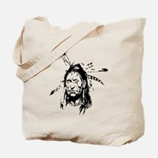 Native Warrior Four Feathers Tote Bag