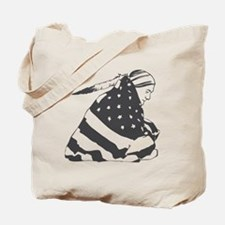 Native American with U.S. Flag Tote Bag