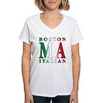 Boston Italian Women's V-Neck T-Shirt