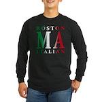 Boston Italian Long Sleeve Dark T-Shirt