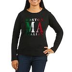Boston Italian Women's Long Sleeve Dark T-Shirt
