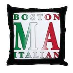 Boston Italian Throw Pillow