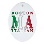 Boston Italian Oval Ornament