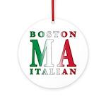 Boston Italian Ornament (Round)
