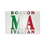 Boston Italian Rectangle Magnet (10 pack)