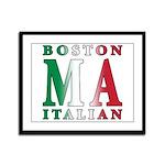 Boston Italian Framed Panel Print