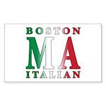 Boston Italian Rectangle Sticker