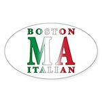 Boston Italian Oval Sticker