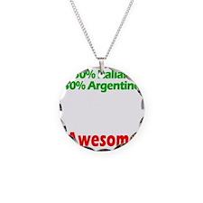 Italian - Argentine Necklace Circle Charm