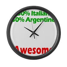 Italian - Argentine Large Wall Clock