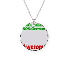 Italian - German Necklace Circle Charm