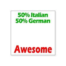 "Italian - German Square Sticker 3"" x 3"""