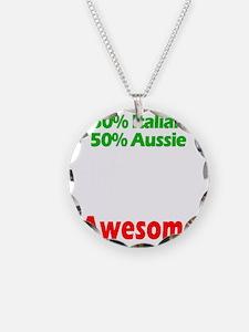 Italian - Aussie Necklace Circle Charm