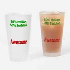 Italian - Serbian Drinking Glass
