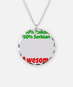 Italian - Serbian Necklace Circle Charm