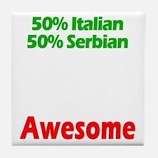 Italian - Serbian Tile Coaster