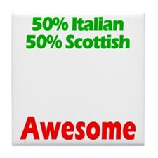 Italian - Scottish Tile Coaster