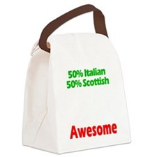 Italian - Scottish Canvas Lunch Bag