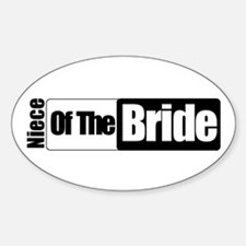 Niece of the Bride Oval Decal