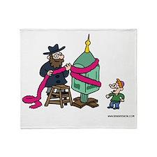 Dreidel Christmas Tree Throw Blanket